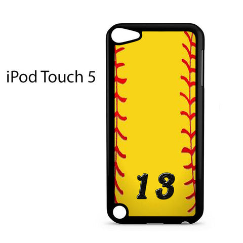 13 Custom Softball Ipod Touch 5 Case