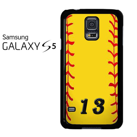 13 Custom Softball Samsung Galaxy S5 Case