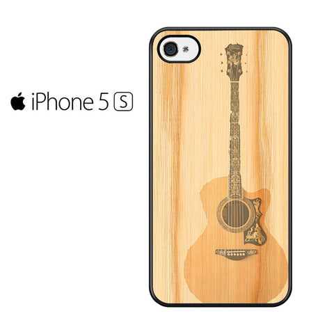 Acoustic Guitar Wood Art Iphone 5 Iphone 5S Iphone SE Case