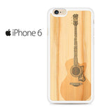 Acoustic Guitar Wood Art Iphone 6 Iphone 6S Case