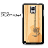 Acoustic Guitar Wood Art Samsung Galaxy Note 4 Case