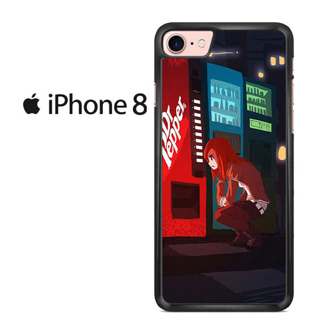 Makise Kurisu Dr Pepper Machine Iphone 8 Case