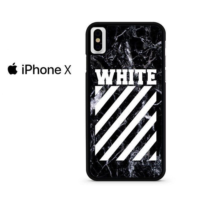 best website 79eed 9c0d1 Off White Black Marble Iphone X Case