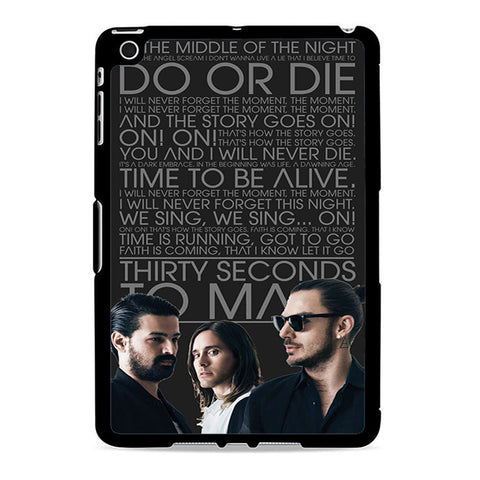 30 Second To Mars Band Lyrics Ipad Mini 2 Case
