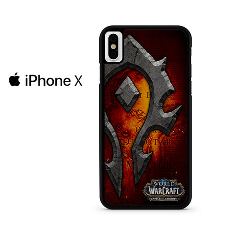 World Of Warcraft Horde Logo Iphone X Case