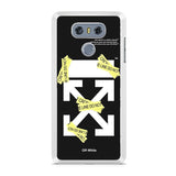 Off White Cross Line LG G6 Case