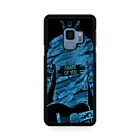 Shape Of You Ed Sheeran Light Blue Samsung Galaxy S9 Case