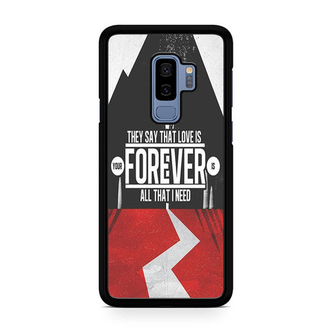 Sleeping With Sirens Logo Quotes Samsung Galaxy S9 Plus Case