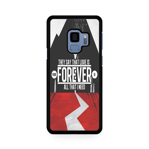 Sleeping With Sirens Logo Quotes Samsung Galaxy S9 Case