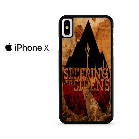 Vintage Sleeping With Sirens Logo Iphone X Case