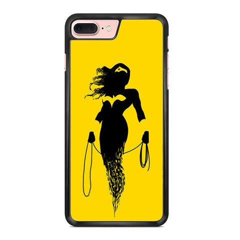 Wonder Woman Silhouette Splatter Iphone 7 Plus Case