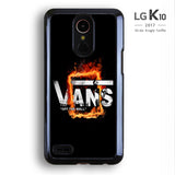 Fire Vans Off The Wall LG K10 Case