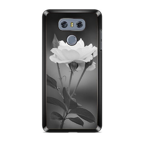 Tulip Flowers In Black and White LG G6 Case