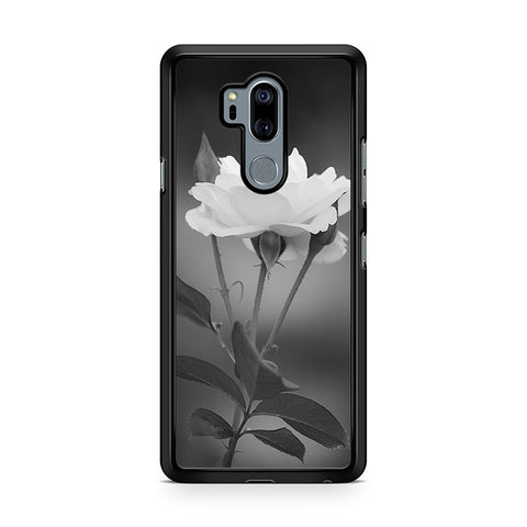 Tulip Flowers In Black and White LG G7 Thinq Case