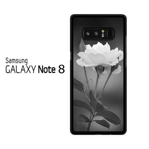 Tulip Flowers In Black and White Samsung Galaxy Note 8 Case