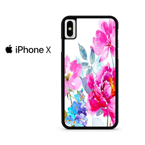 Watercolor Flower Blooms Iphone X Case