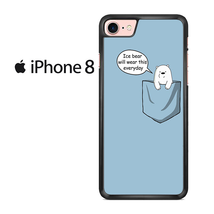 8640187505 We Bare Bears Ice Bear In Pocket Iphone 8 Case – Comerch