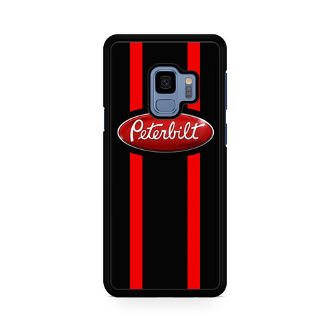 Red Stripes Peterbilt Logo Samsung Galaxy S9 Case