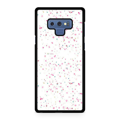 White Girly Glitter Samsung Galaxy Note 9 Case