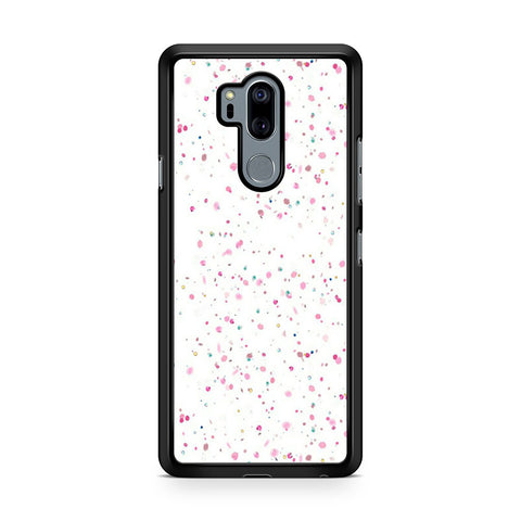 White Girly Glitter LG G7 Thinq Case