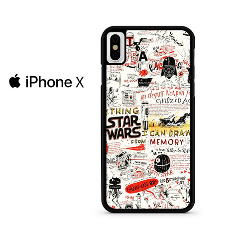 Star Wars Quotes Collage Iphone X Case