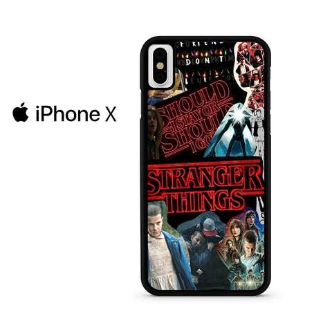 Stranger Things Collage Iphone X Case
