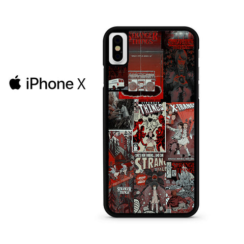 Stranger Things Poster Collage Iphone X Case