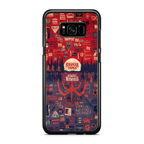 Stranger Things Poster Upside Down Collage Samsung Galaxy S8 Plus Case