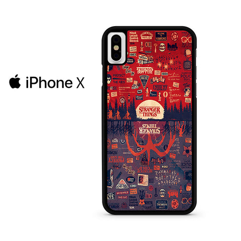 Stranger Things Poster Upside Down Collage Iphone X Case