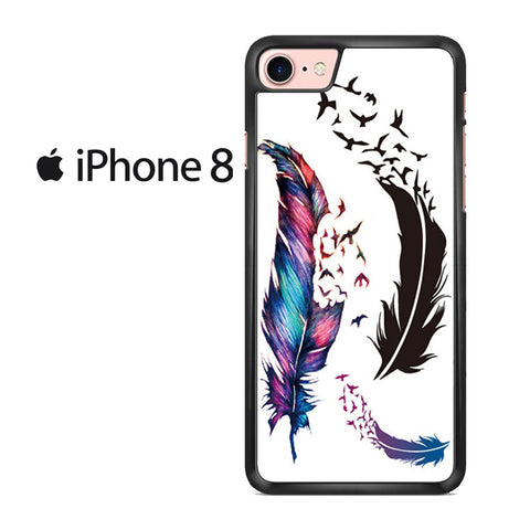Watercolor Peacock Feather Iphone 8 Case