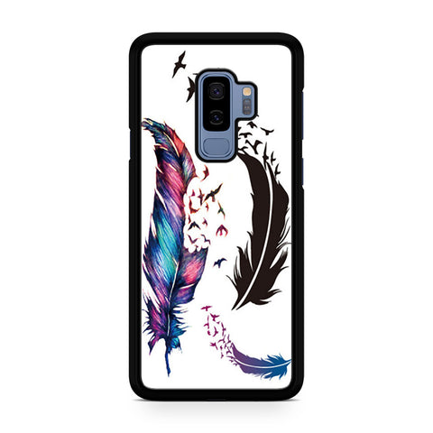 Watercolor Peacock Feather Samsung Galaxy S9 Plus Case