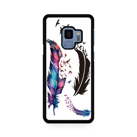 Watercolor Peacock Feather Samsung Galaxy S9 Case
