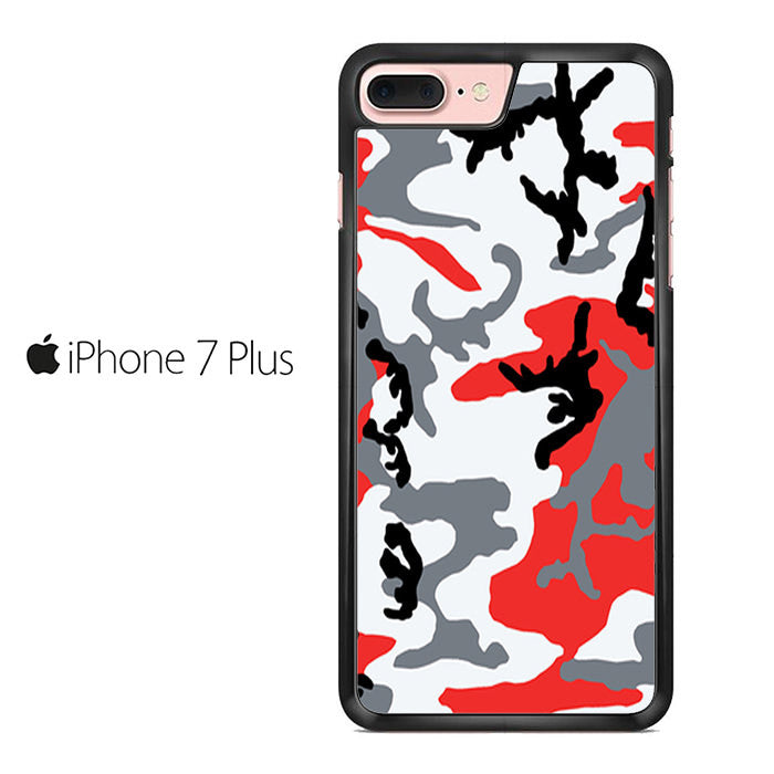 detailed pictures f2a52 674d3 Woodland Bright Red Camo Iphone 7 Plus Case