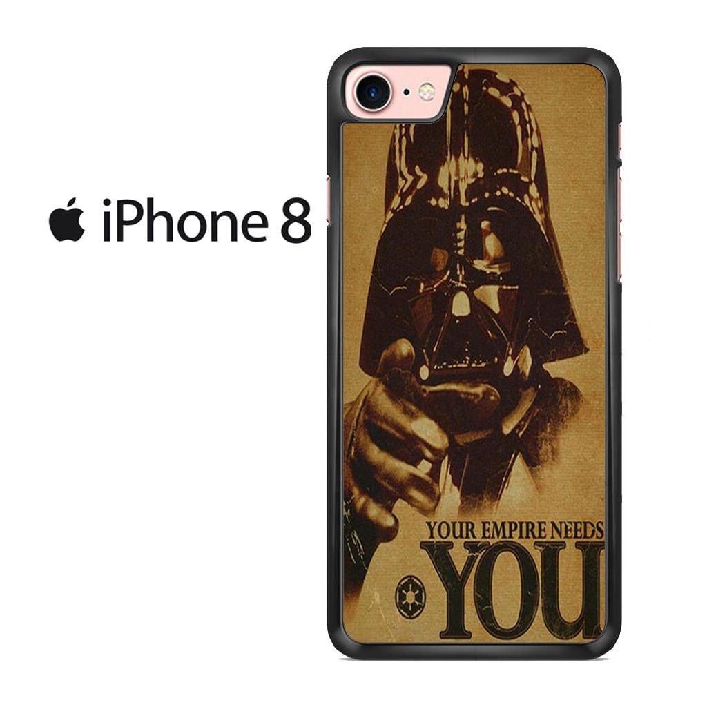 competitive price 2d23a 6c36f Vintage Star Wars Darth Vader Poster Iphone 8 Case