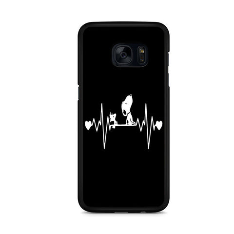 Snoopy And Woodstock Heartbeat Samsung Galaxy S7 Edge Case