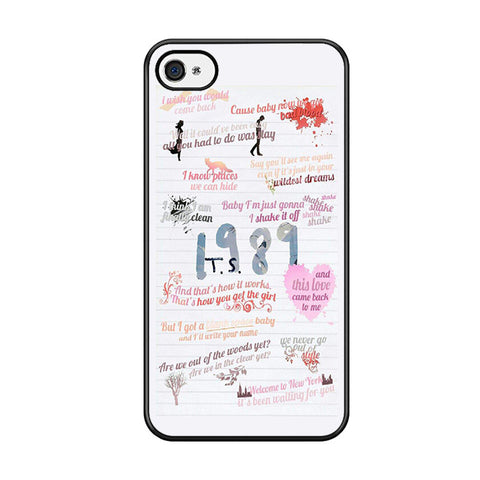 1989 Taylor Swift Quotes Collage Iphone 5 Iphone 5S Iphone SE Case