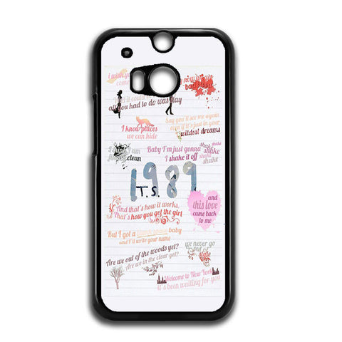 1989 Taylor Swift Quotes Collage HTC One M8 Case