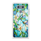 White Flowers Stained Glass LG G6 Case
