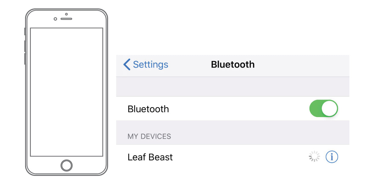 Leaf Beast Bluetooth Pairing