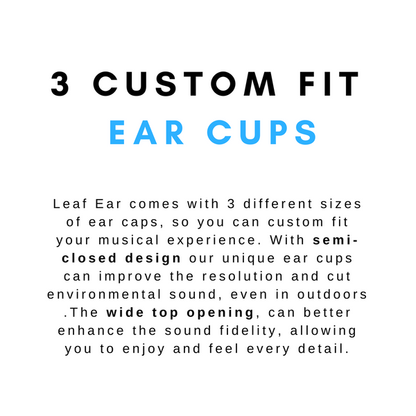 custom ear cups leaf ear