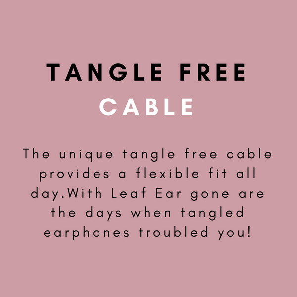 tangle free cable leaf ear