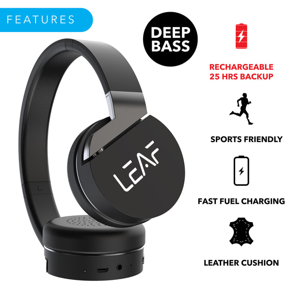 Leaf Force Wireless Bluetooth On Ear Headphones - Leaf