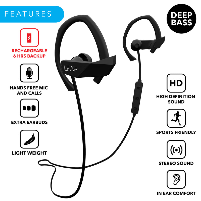 Leaf Sport Wireless Bluetooth Earphones - Leaf