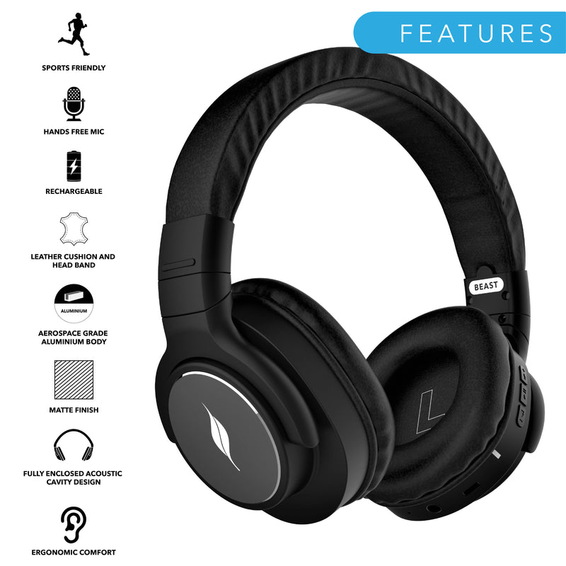 Leaf Beast Wireless Bluetooth Over-Ear Headphones - Leaf
