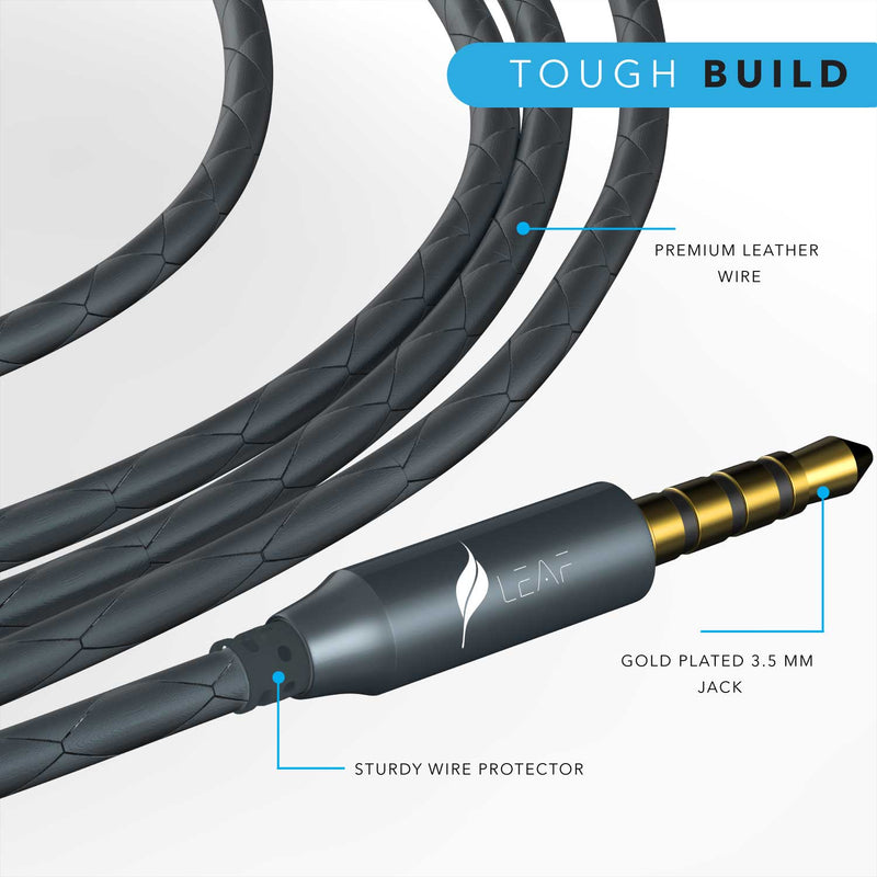 Combo Offer : 2 Leaf Bolt Wired Earphones (Gunmetal + Carbon Black) - Leaf Ear