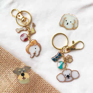 Doggie Customisation Collection (keychain & pins)