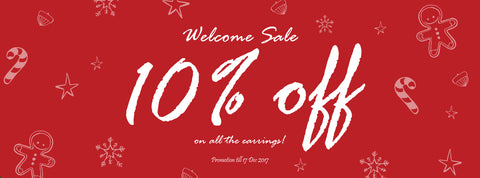 welcome sale - 10% off all handmade earrings