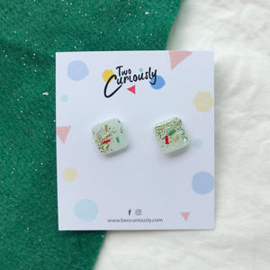 Square Studs (mint base)