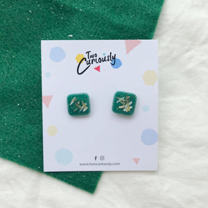 Square Studs (green base)