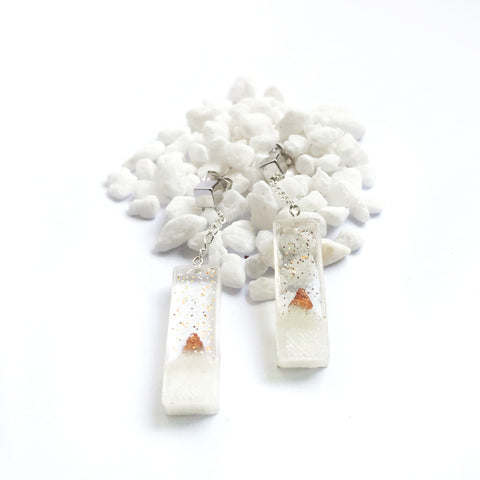christmas snow time drop earrings